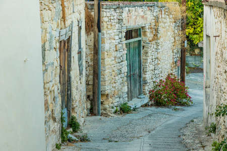 Omodos Cyprus. September 3 2019. A view of in the traditional village of Omodos in Cyprus