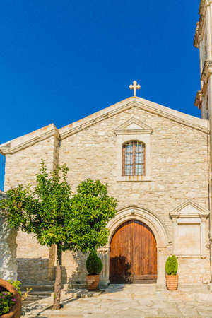 Lania Cyprus. September 3 2019. A view of the church in the traditional village of Lania in Cyprus