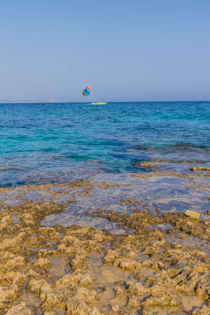 Agia Napa Cyprus. August 14 2019. A view at Nissi beach in Agia Napa in Cyprus