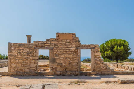 Paphos Cyprus. September 4 2019. A view of the sanctuary of apollo hylates in Limassol in Cyprus Фото со стока