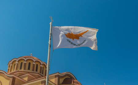Paralimni Cipro. 16 agosto 2019. Una vista della chiesa di agios dimitrrios a Paralimni Cipro Archivio Fotografico