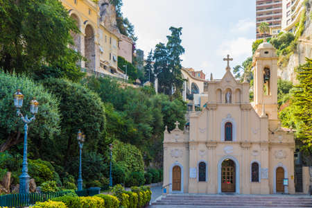 Monte Carlo Monaco. June 16 2019. A view of Saint Devote Chapel in Monte carlo in Monaco