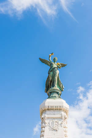 Nice cote d Azur. France. june 20 2019. A view of the centenary monument in Nice in Cote d Azur in France