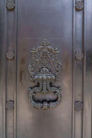 June 2020. London. Door knocker in St James, London,England UK Europe