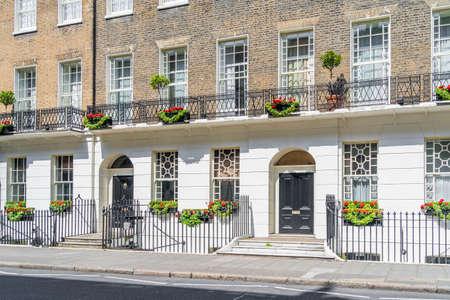 June 2020. London.A street scene in Bloomsbury, London, Uk Europe 版權商用圖片
