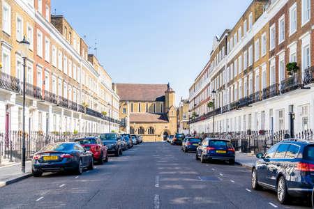 June 2020. London. Milner street in Knightsbridge, London, England UK Europe