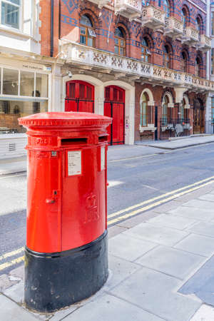 June 2020. London. A red post box in St James, London,England, UK Europe