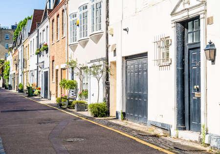 Mews houses in Knightsbridge, London, England UK Europe