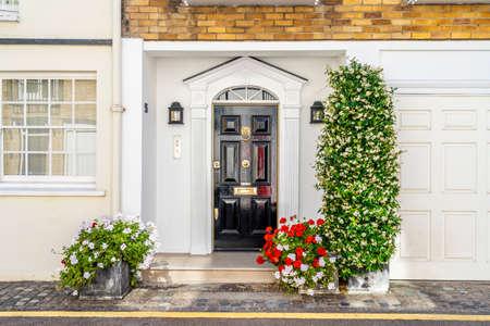 June 2020. London. Pretty local architecture in Knightsbridge, London, England UK Europe