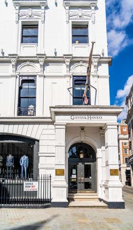 June 2020. London. Saville Row in St James, London,England UK Europe