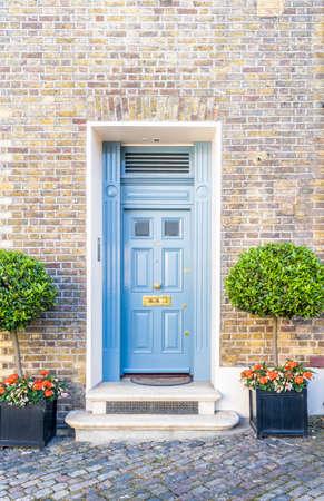 June 2020. London.Door in Belgravia, London Uk Europe