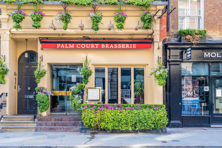 June 2020. London. The Palm Court Brasserie in Covent Garden , London, Uk Europe