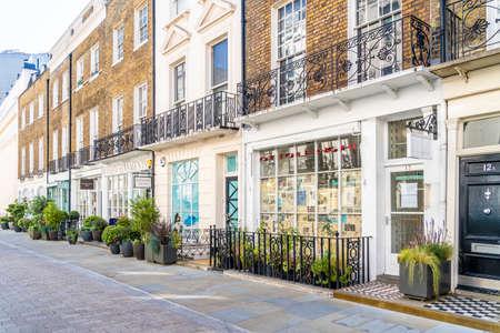 June 2020. London. Motcomb street in Belgravia, London Uk Europe