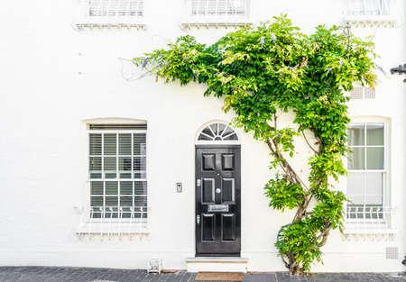 July 2020. London. Door in Belgravia, London Uk Europe