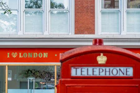 June 2020. London.Red telephone boxes in Covent Garden , London, Uk Europe 版權商用圖片