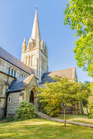 June 2020 London. St Johns Church, Notting Hill, London, England, United Kingdom Europe 版權商用圖片