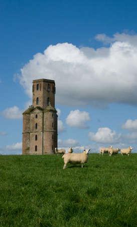 restored: Horton Tower, an eighteenth century Folly Stock Photo