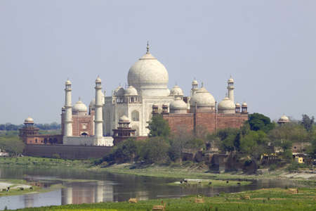 Taj Mahal across the river