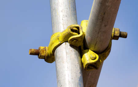 Detail of a scafolding joint Stock Photo - 5701169