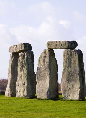 Two Sarsen Trilithons at the World Heritafe Site Stonehenge photo