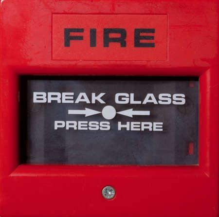 トリガー: 火災警報休憩ガラス アラーム トリガー 写真素材
