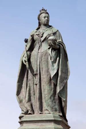 sceptre: Statue of Queen Victoria in Birmingham,UK