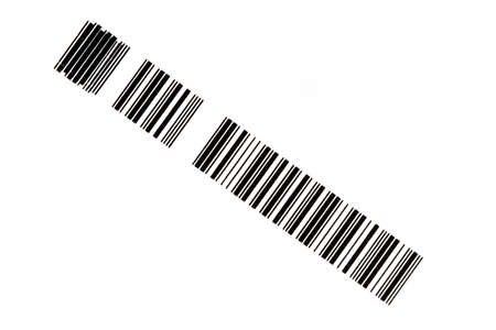 Section of a bar code placed diagonally across the frame photo