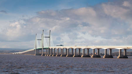 New Severn Bridge carrying the M4 motorway connection between Wales and England photo