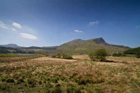 Nantlle Ridge, Snowdonia National Park, Wales, UK on a sunny day viewed from Rhyd-Ddu photo