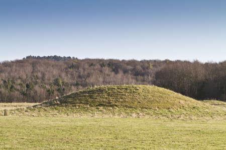 mounds: Neolithic burial mound, Cranborne Chase, Dorset, England Stock Photo