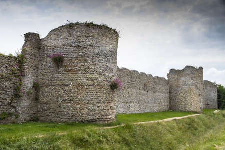 The medieval castle of Portchester is set within the walls of a 3rd-century Roman fort  The great Tower was built in the twelth century and a royal residence was added in the 1390s