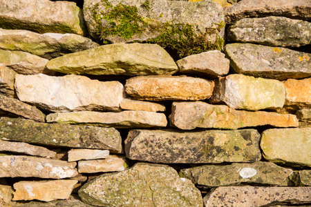 cotswold: Cotswold dry stone wall in close up