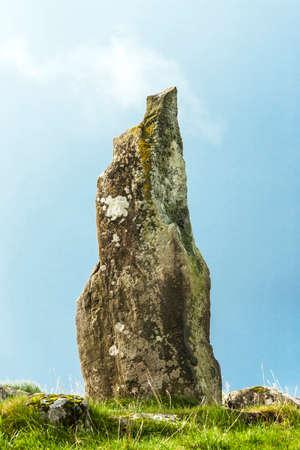 obelisk stone: Neolithic standing stone, on the Isle of Mull, Scotland