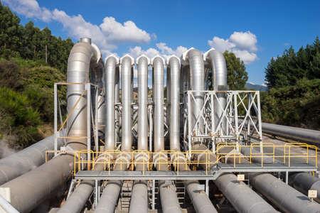 ecosistema: Central eléctrica geotérmica, cerca de Taupo Nueva Zelanda