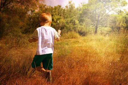 child in nature photo