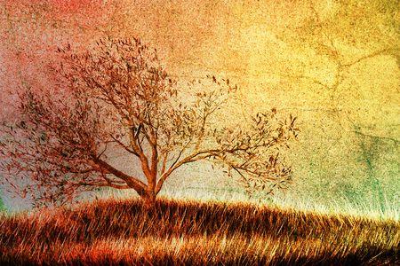 Vintage tree Stock Photo