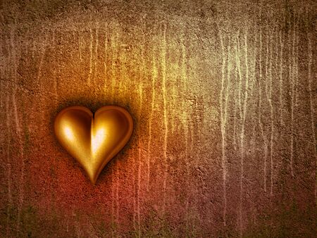 brilliant heart: Valentine heart Stock Photo
