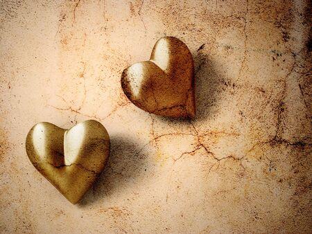 Vintage Valentine hearts photo