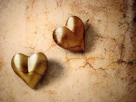 Vintage Valentine hearts Stock Photo - 3081626