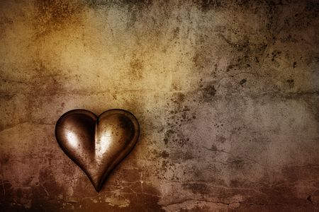 grunge heart: Grunge background