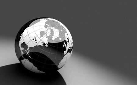 black and white 3d globe Stock Photo - 4680472