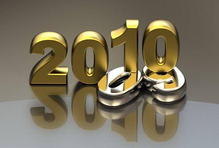 new year 2010 background Stock Photo - 6112495