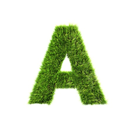 Grass letter - a Stock Photo