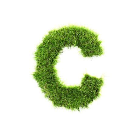 Grass letter - c Stock Photo