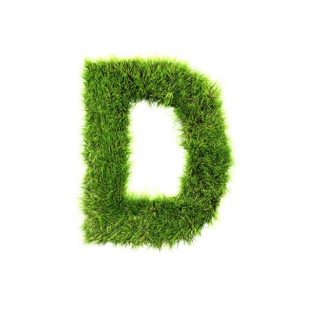 letter d: Grass letter - d Stock Photo