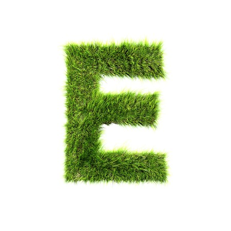 grass isolated: Grass letter - e