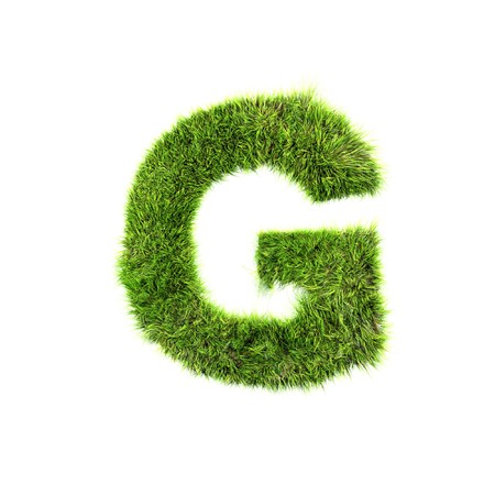 grass isolated: Grass letter - g