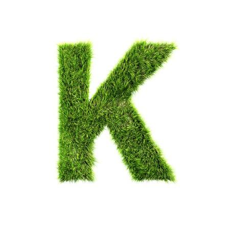 Grass letter - k