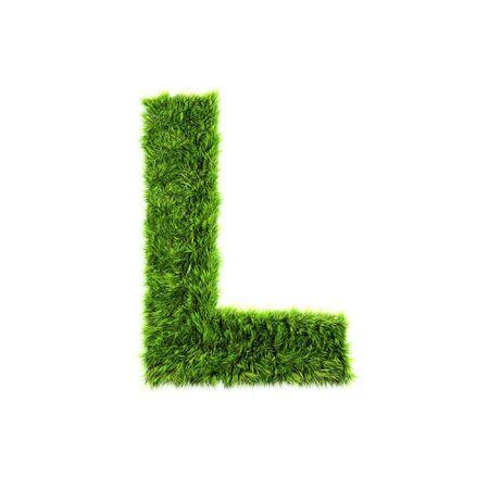 Grass letter - L
