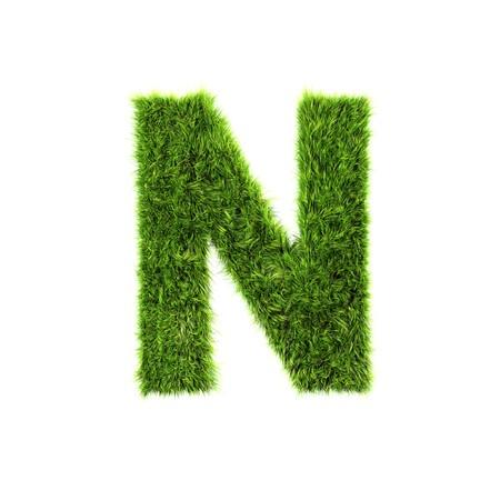 Grass letter - n Stock Photo - 7488152